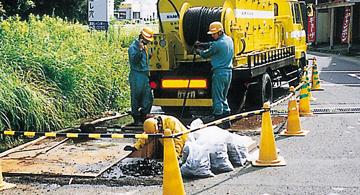 上水道管更正工事
